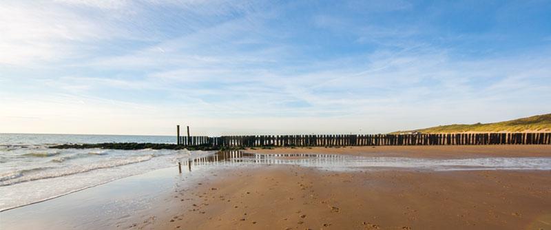 Omgeving van de camping: het strand van Westkapelle